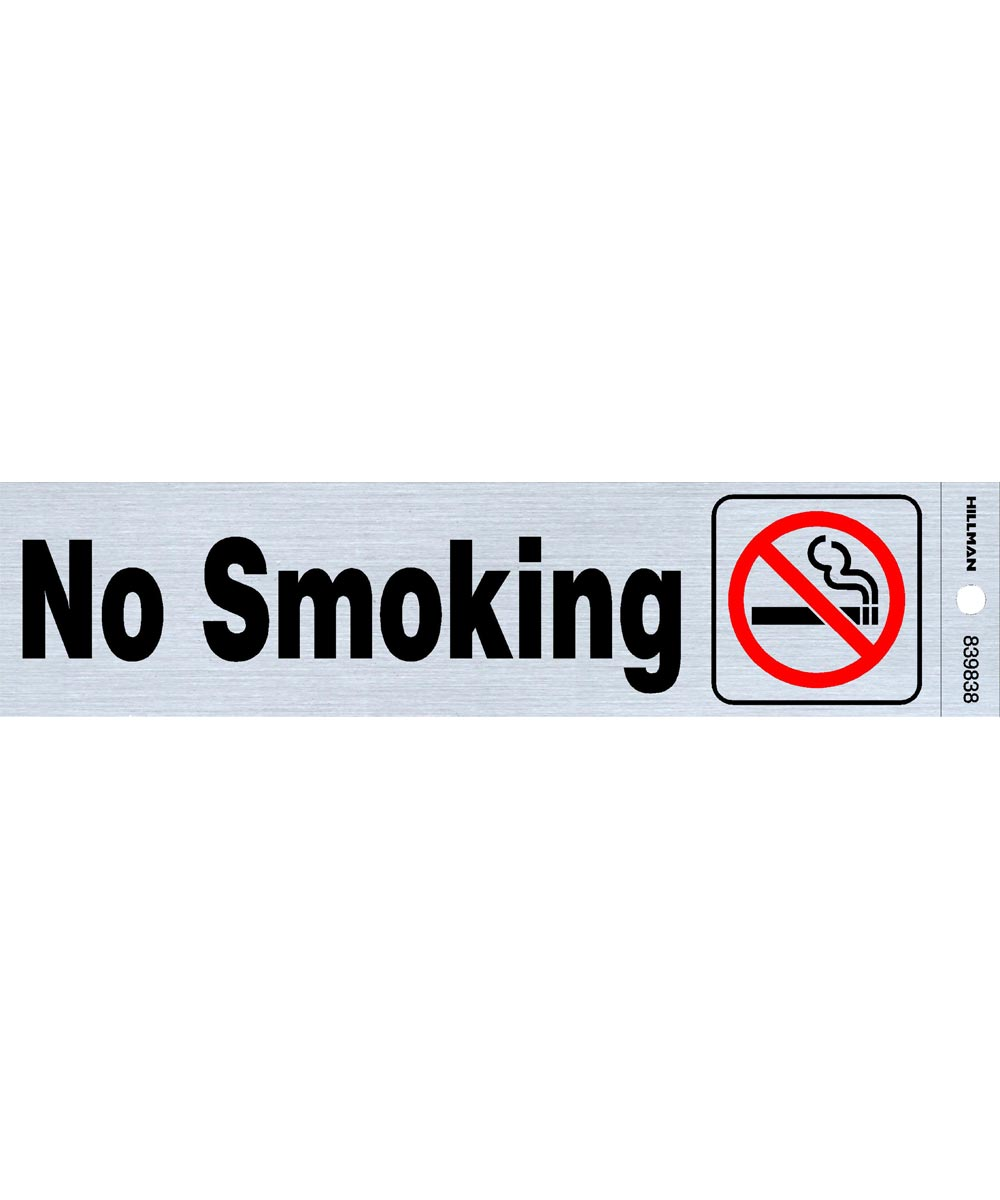 No Smoking Sign With Symbol 2 in. X 8 in.
