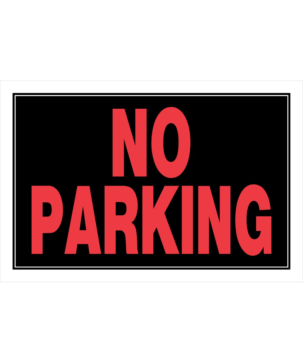 No Parking Sign 8 in. X 12 in.