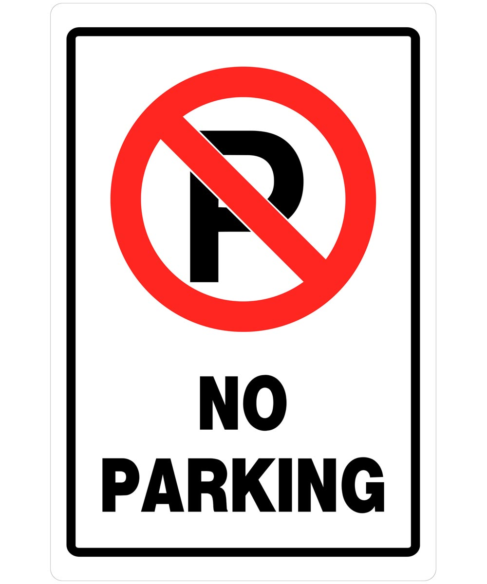 No Parking Sign 18 in. X 12 in.