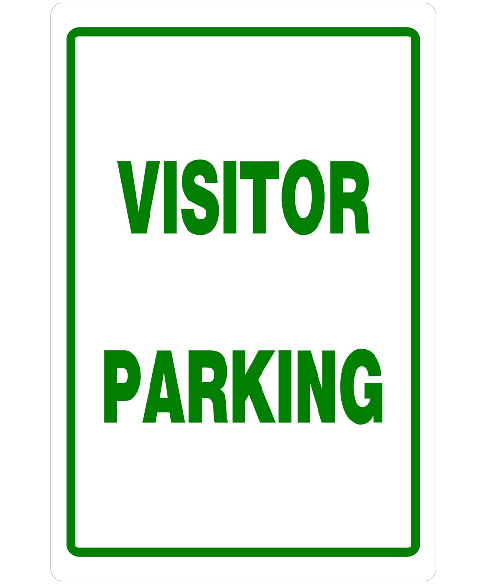 Visitor Parking Sign 18 in. X 12 in.