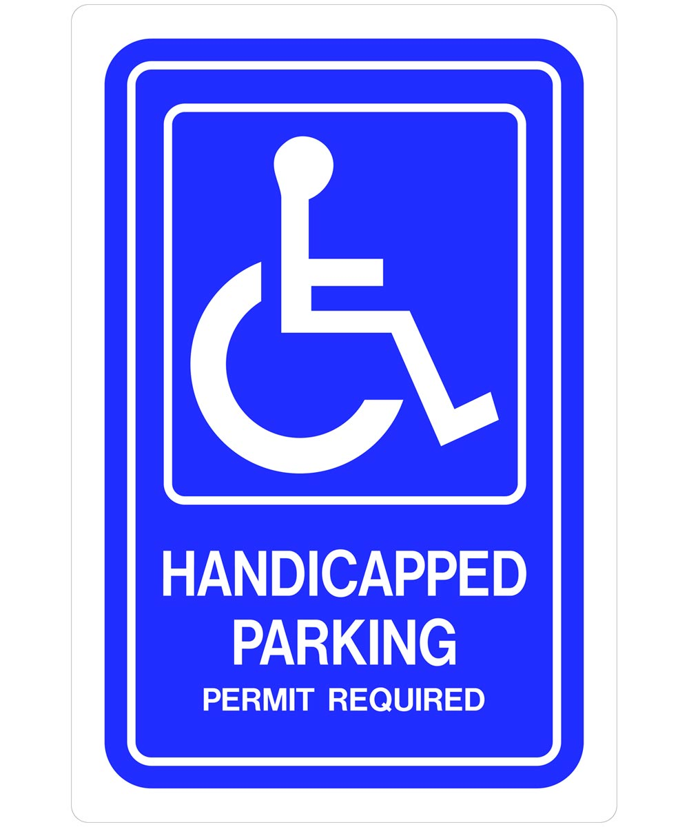 Handicapped Parking Sign 18 in. X 12 in.