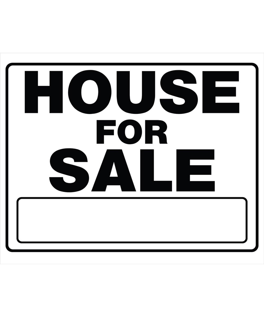 House For Sale Black and White Sign 20 in. x 24 in.