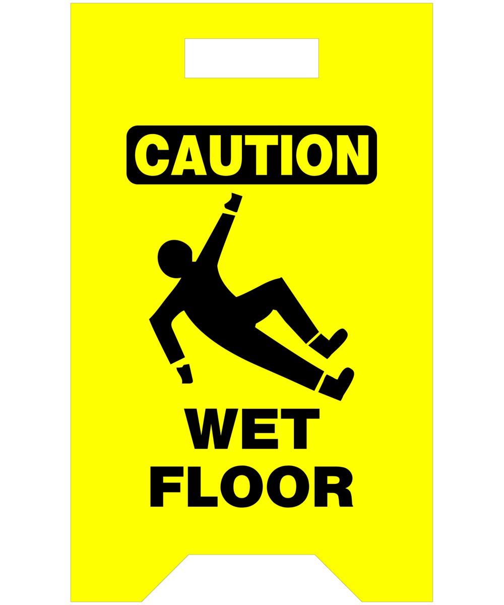 Caution Wet Floor Safety Floor Sign