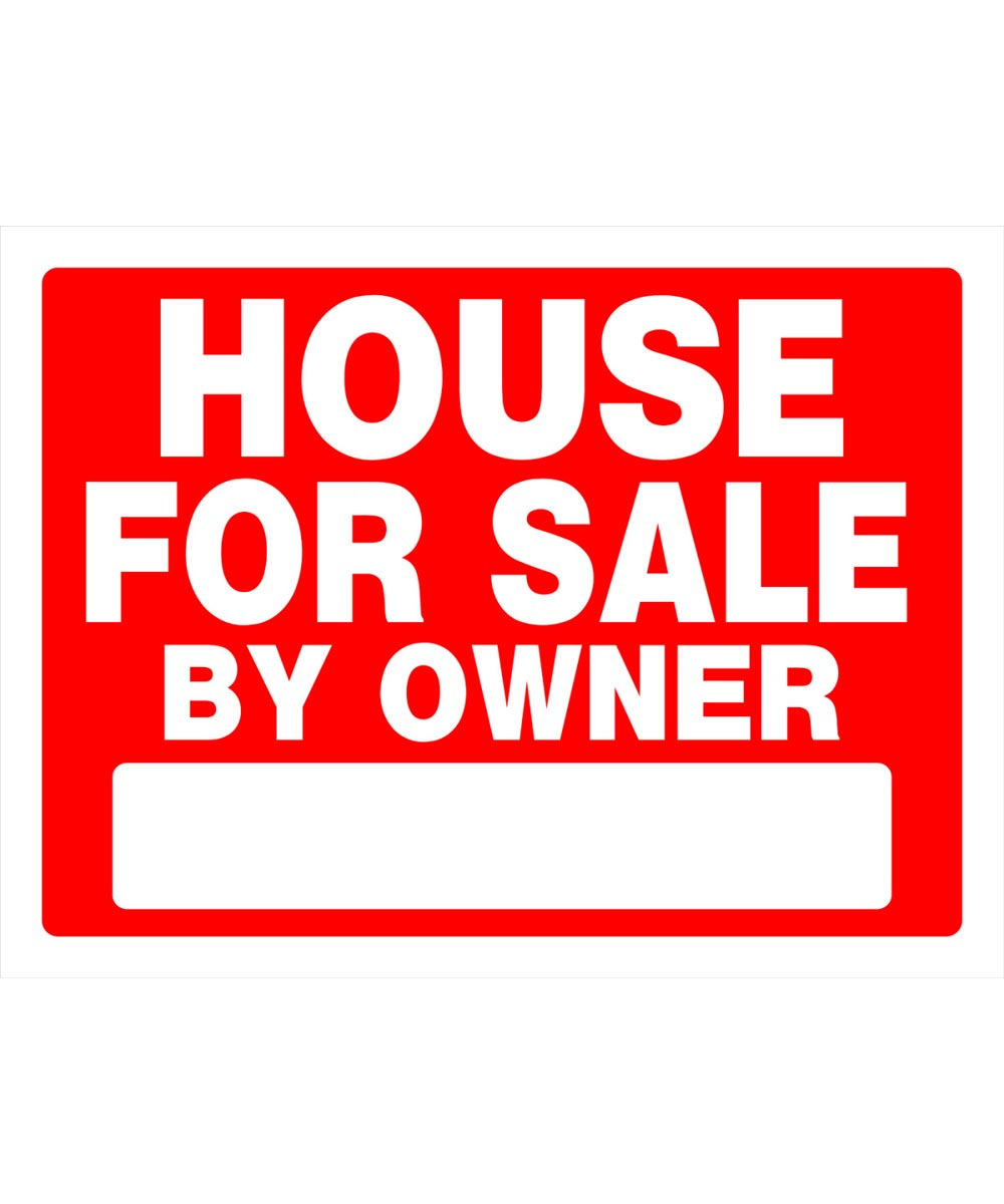 House For Sale Red and White Sign 18 in. x 24 in.