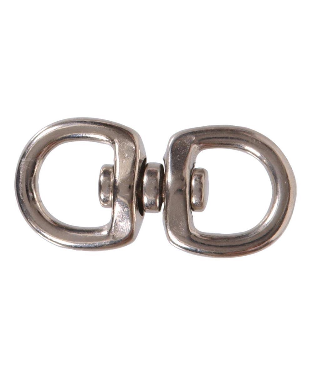 Nickel Double Round Eye Swivel 3/4 in. x 2-3/4 in.