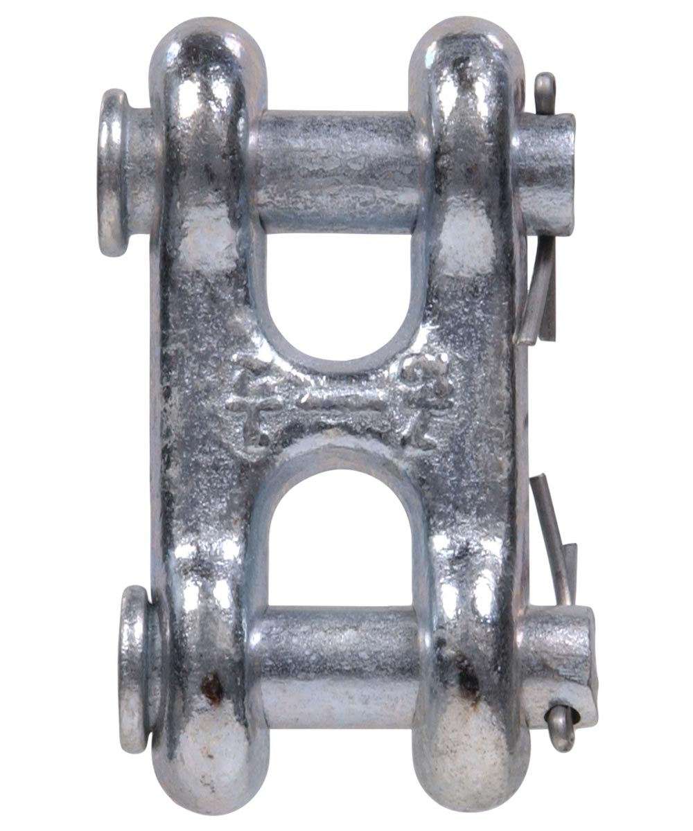 Hot Dipped Galvanized Double Clevis Link 3/8 in.