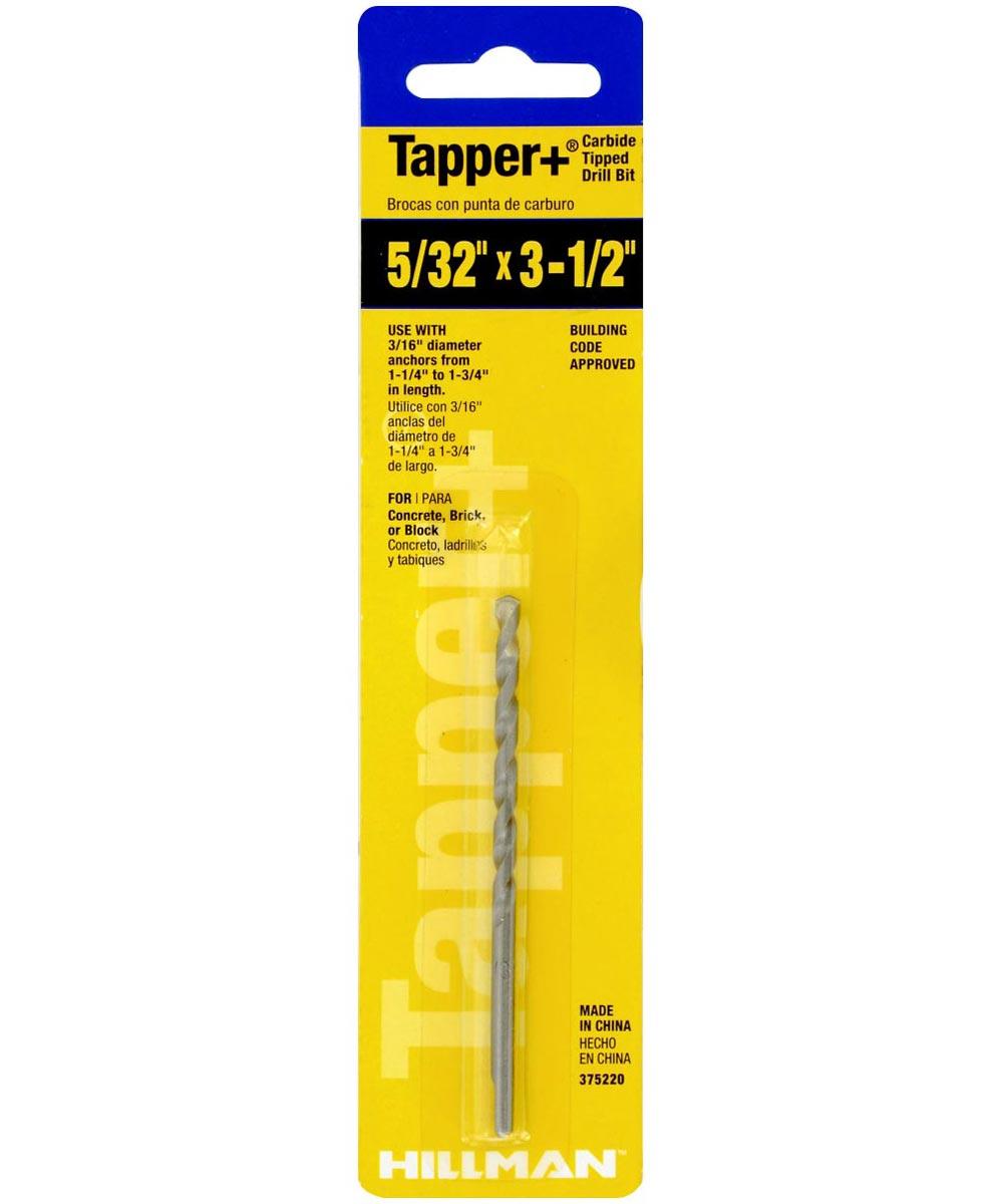 Carbide Tapper Drill Bit (5/32 in. x 3-1/2 in.)