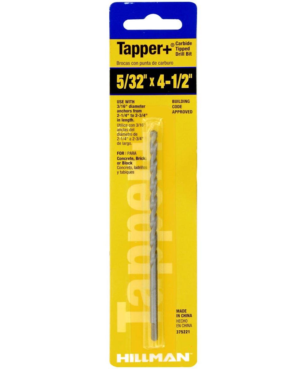 Carbide Tapper Drill Bit (5/32 in. x 4-1/2 in.)
