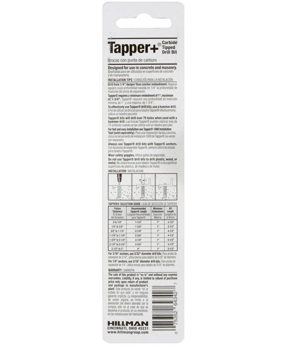 Carbide Tapper Drill Bit (3/16 in. x 4-1/2 in.)