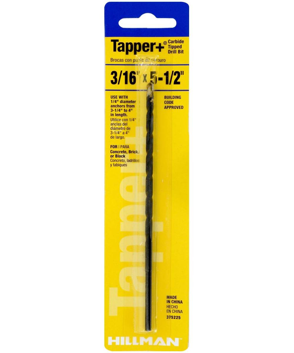 Carbide Tapper Drill Bit (3/16 in. x 5-1/2 in.)