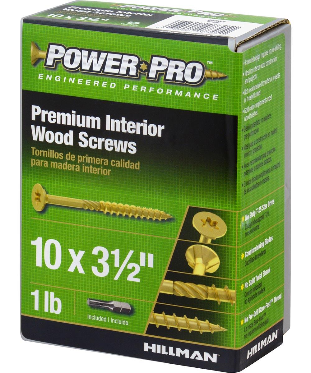 Star All Purpose Wood Screws (#10 x 3-1/2 in.), 1 lb. Box