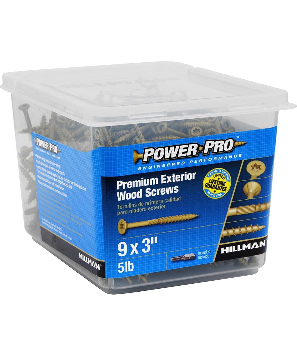Power Pro Outdoor Wood Screw #9 x 3 in.