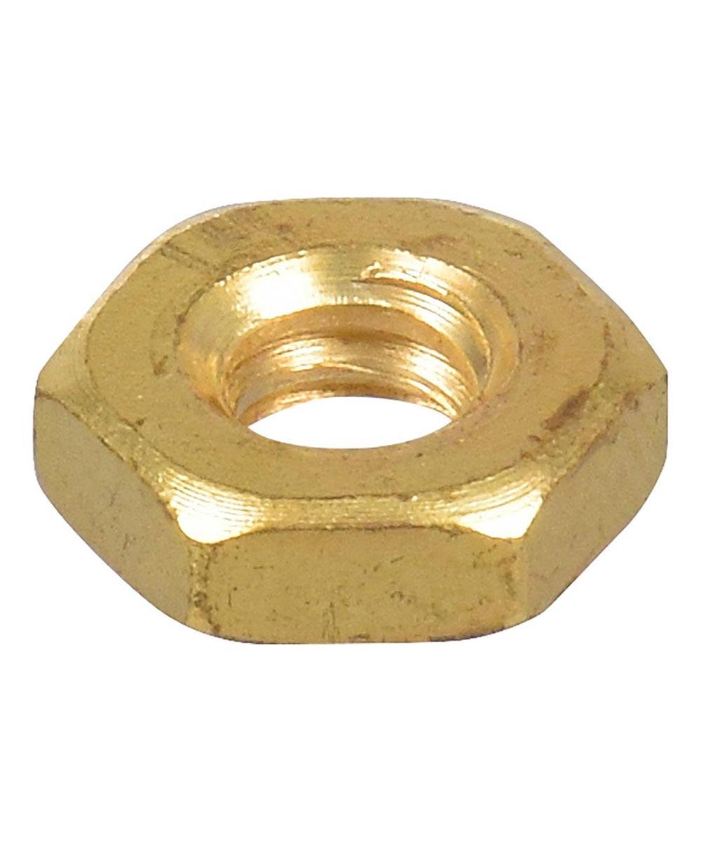 Brass Machine Screw Hex Nut (#10-24)