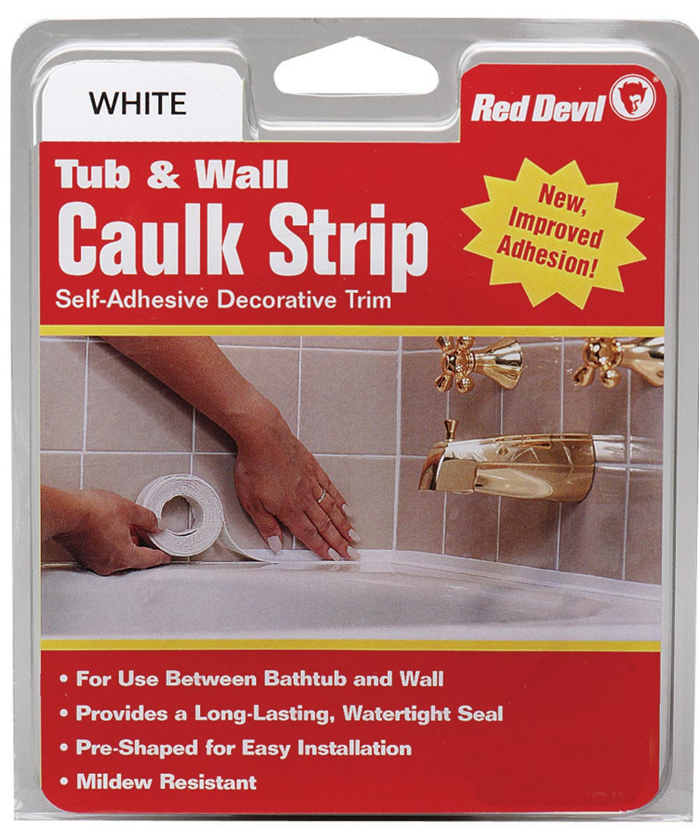 7/8 in. x 11 ft. Medium White Tub & Wall Caulk Strip