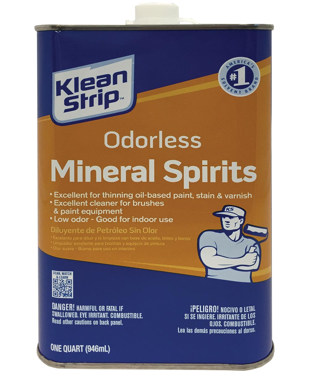 Klean-Strip Mineral Spirit, 1 qt Can, Colorless to Light Yellow, Liquid