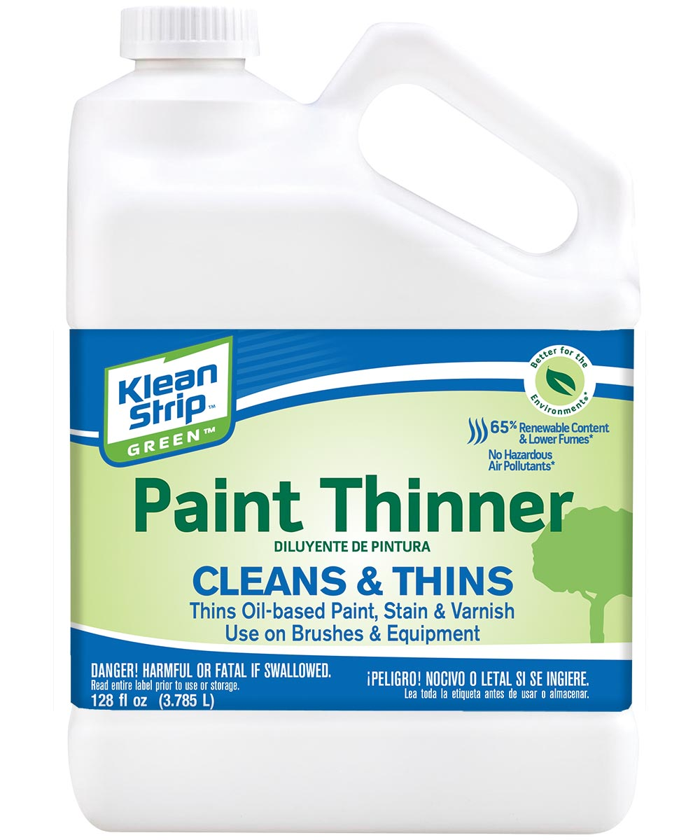 Klean-Strip Safer Paint Spirit, 1 gal, Plastic Bottle, Liquid, Light Petroleum Distillate