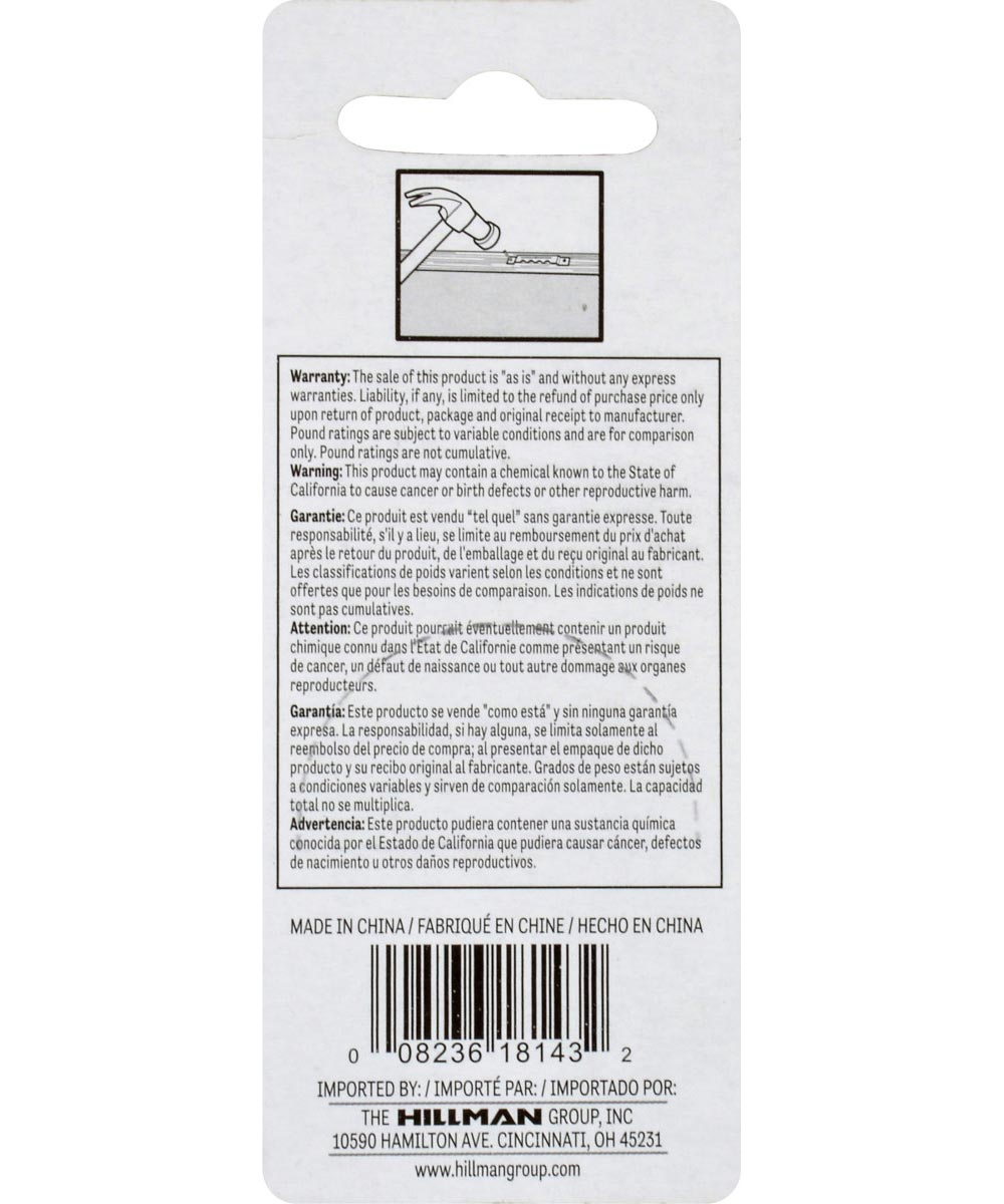 OOK Large Self-Leveling Sawtooth Hanger, Pack of 5