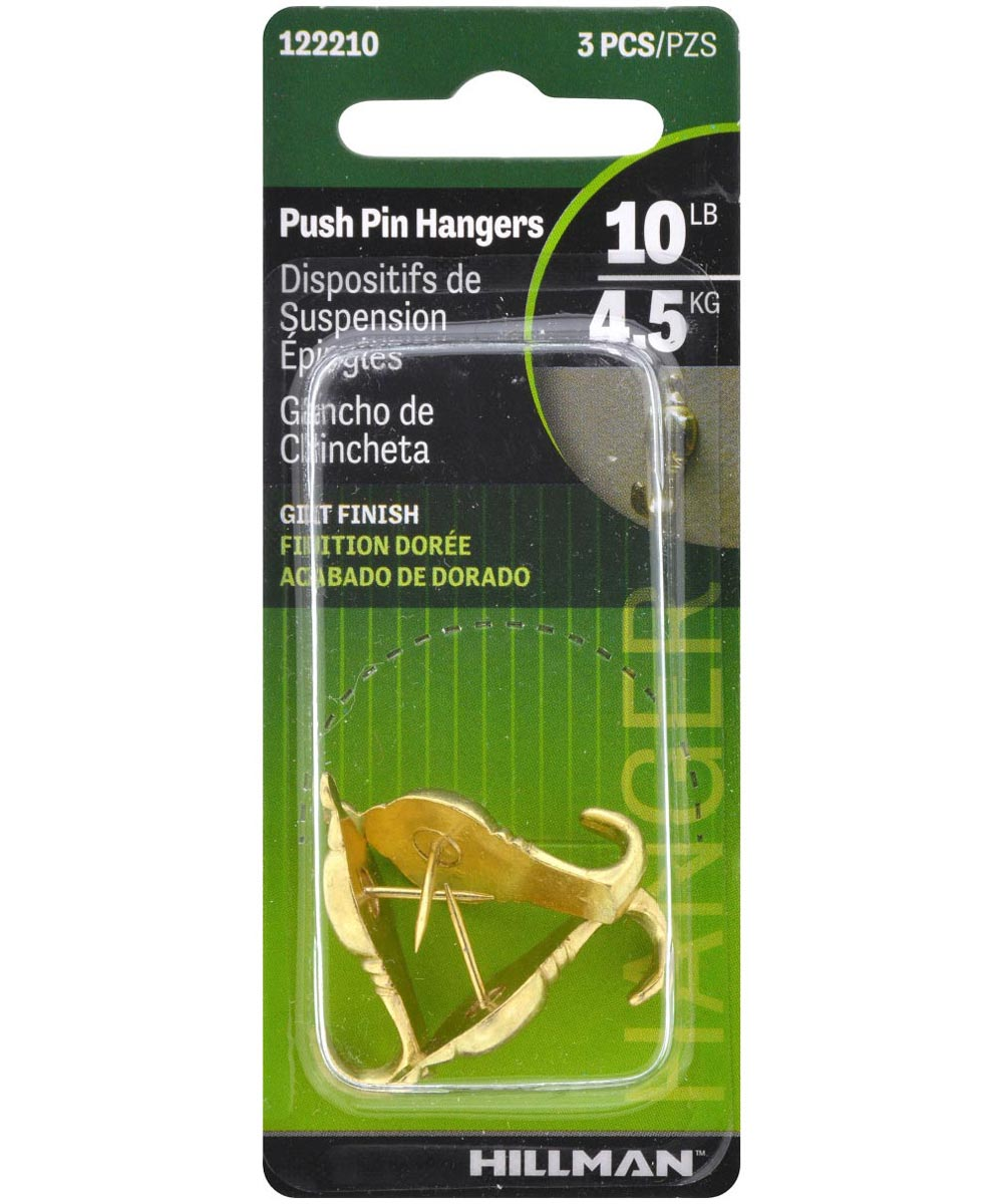 Colonial Push Pin Hanger Gilt 10lb