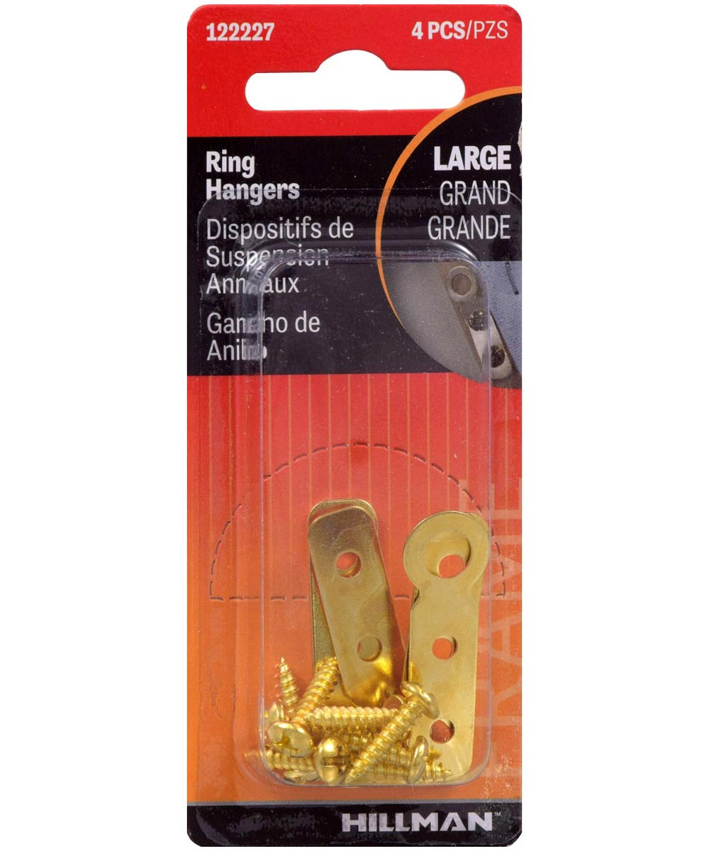 Large Flat Plated Hanger, 4 Pieces