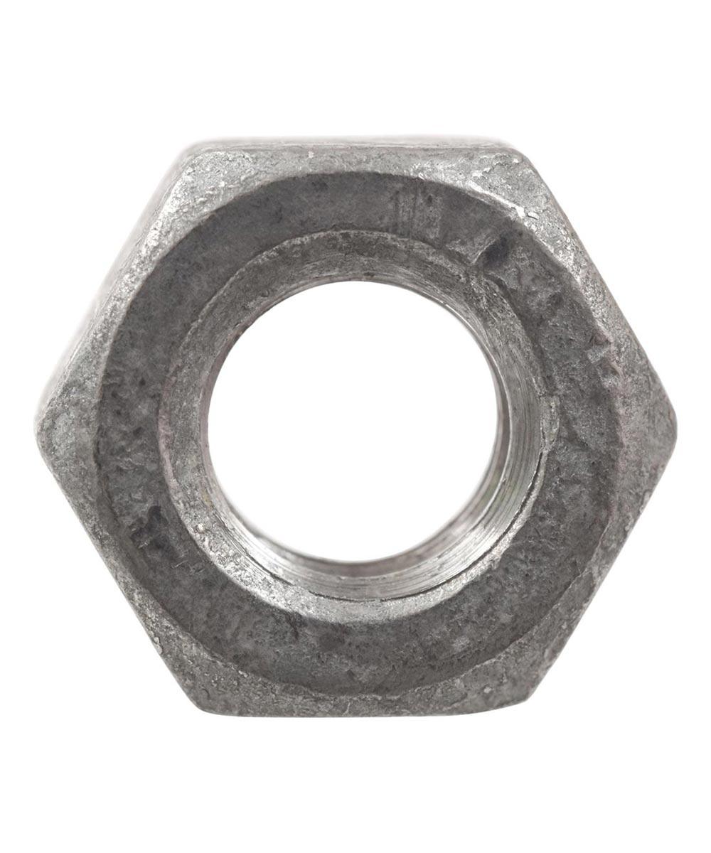 Coarse Galvanized Hex Nuts 1/4-20