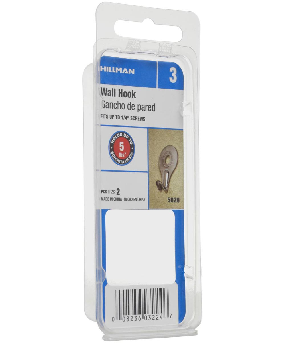Utility Wall Hook, 20 Pieces