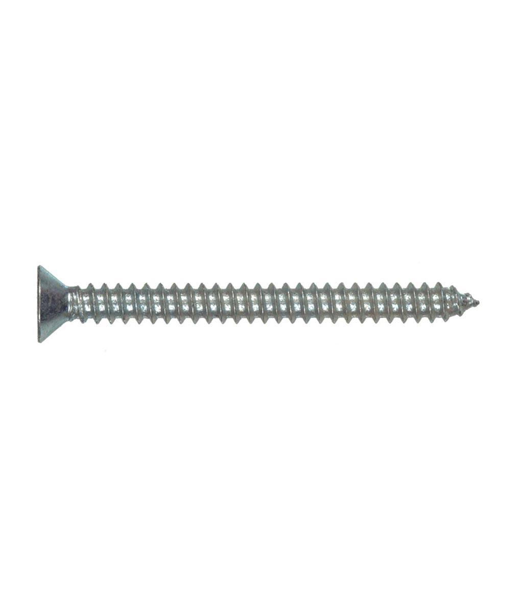 Zinc Flat Head Phillips Sheet Metal Screws #14 x 2 in., 4 Pieces
