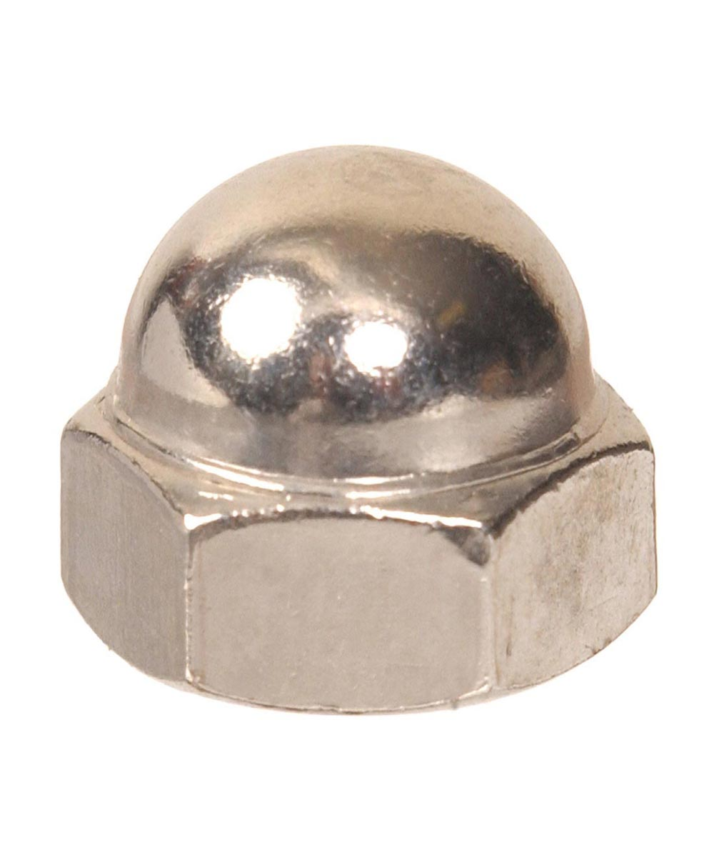 Zinc Acorn Nuts 1/4-20, 4 Pieces