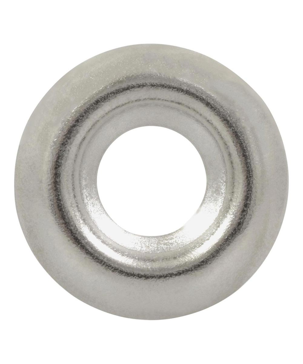 Nickel-Plated Countersunk Finish Washers #12, 6 Pieces