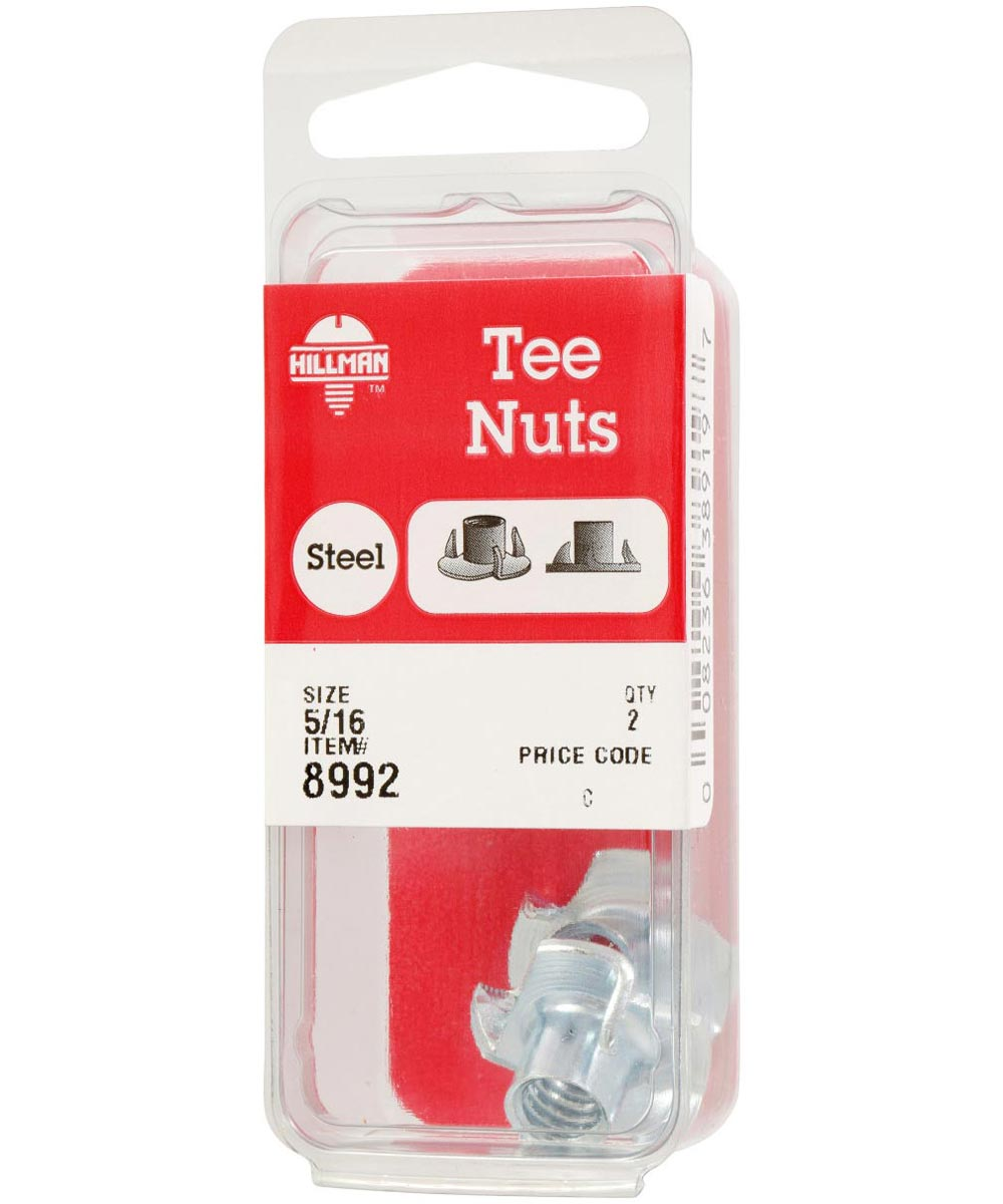 Pronged Tee Nuts 5/16-18, 2 Pieces