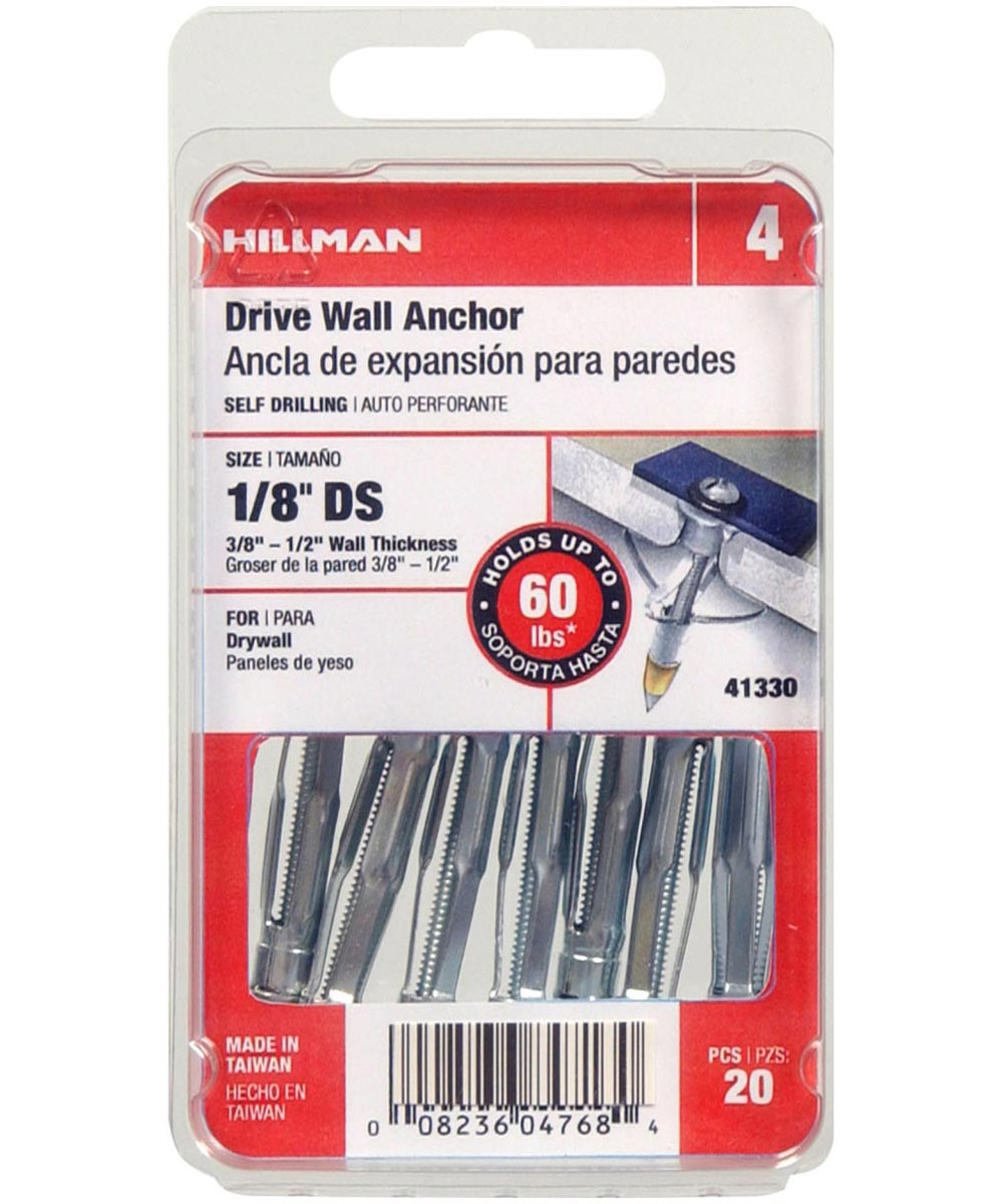 Drive Wall Anchor 1/8 in. Short, 20 Pieces