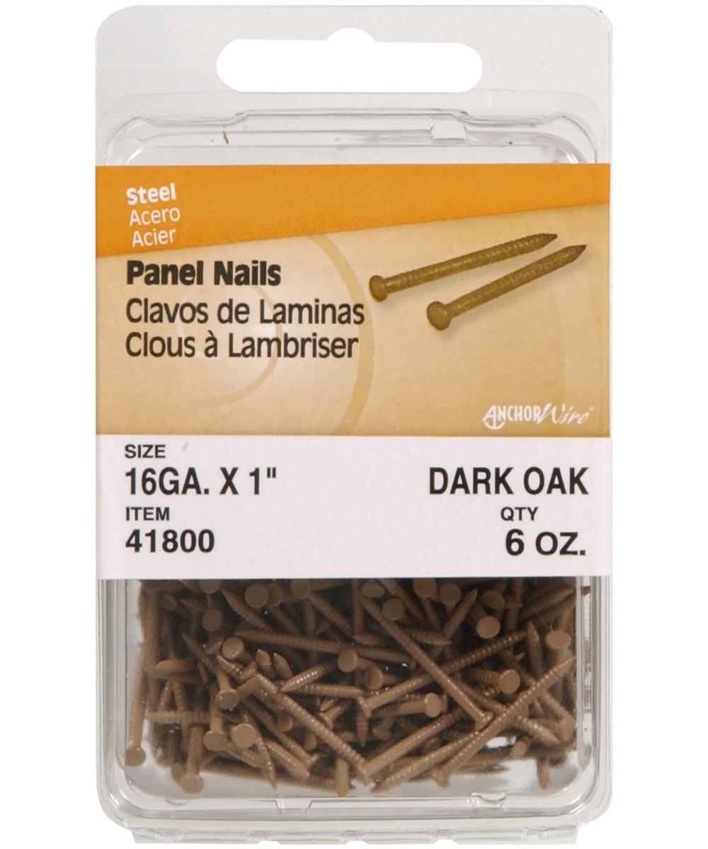 Dark Oak Panel Nails 1 in., 6 oz.