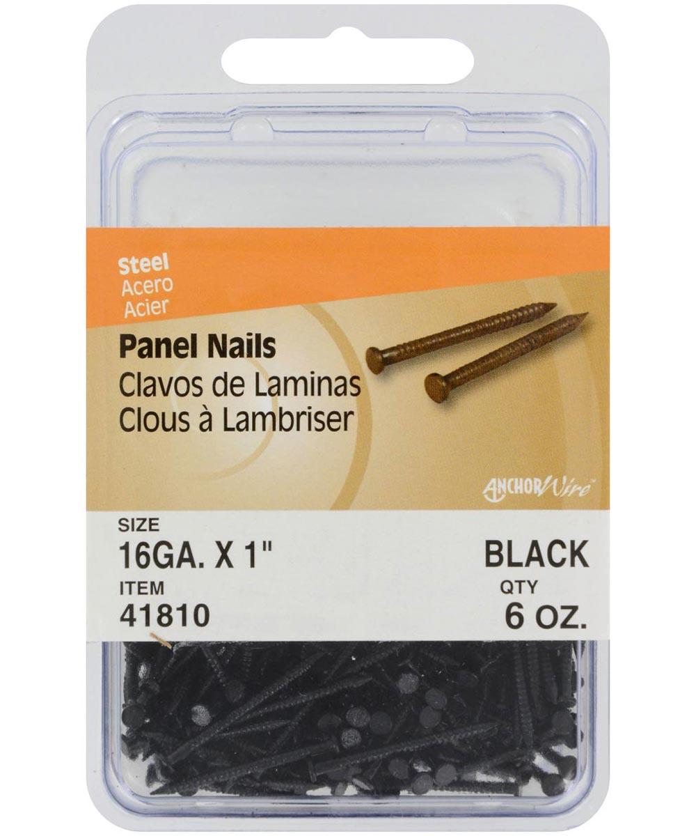 Black Panel Nails 1 in., 6 oz.