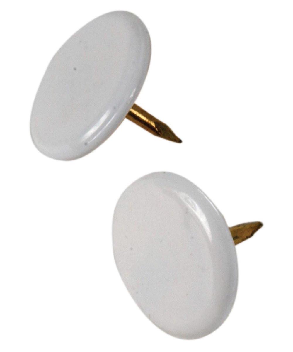 Thumb Tacks White, 40 Pieces