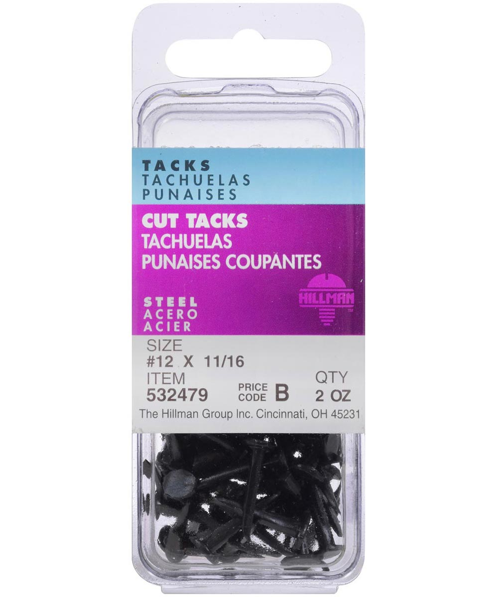 Blued Cut Tacks #12 x 11/16 in., 6 Pieces