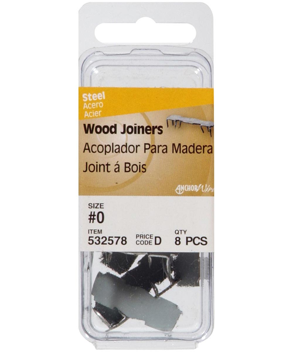 Bright Finish Wood Joiner #0, 8 Pieces