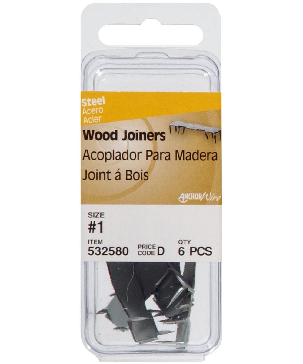 Bright Finish Wood Joiner #1, 6 Pieces