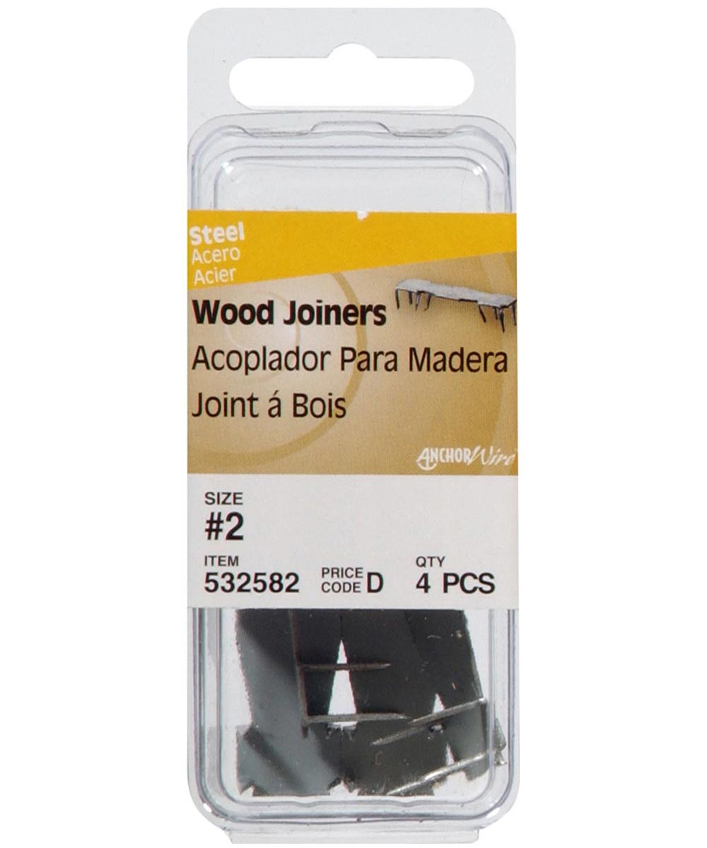 Bright Finish Wood Joiner #2, 4 Pieces