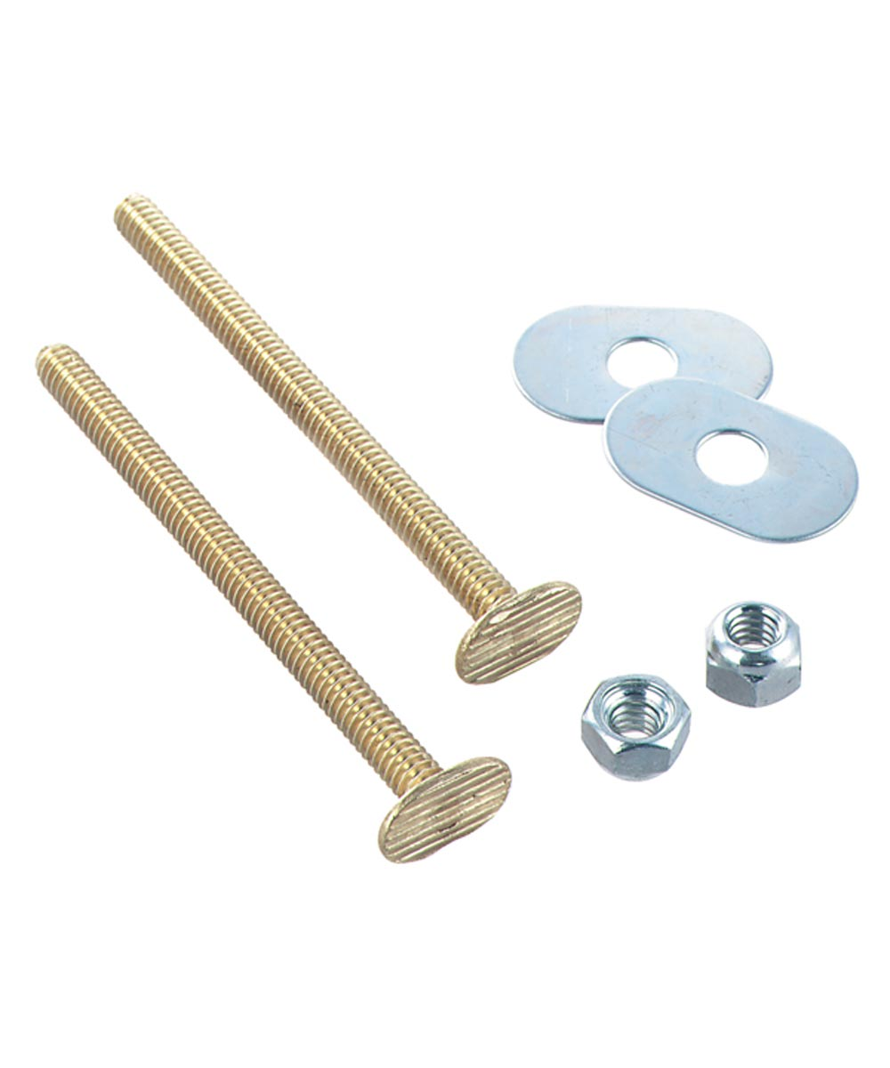 Toilet Bolt Set 1/4 Brass