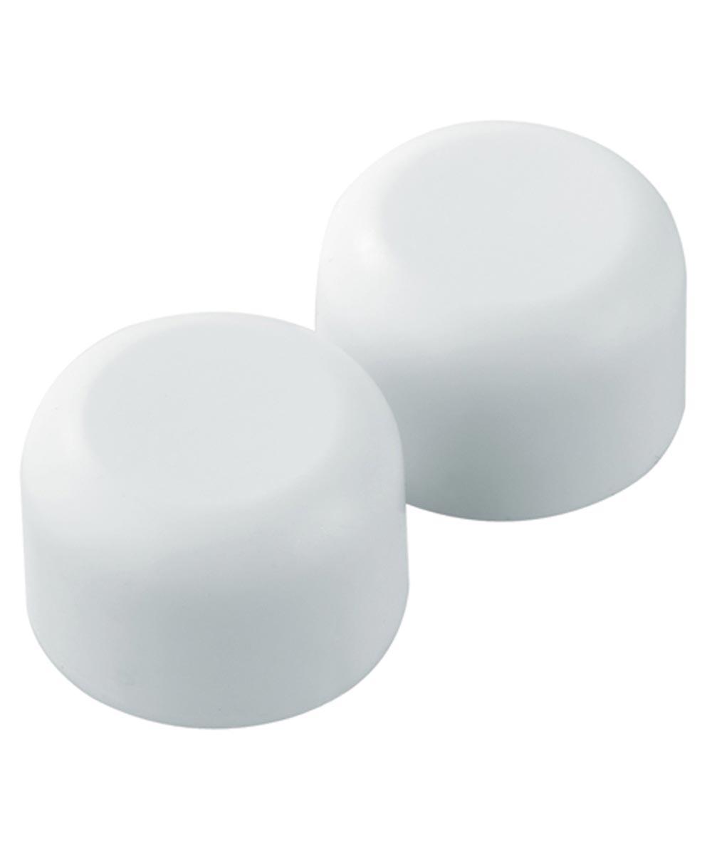 Round Toilet Bolt Caps, White