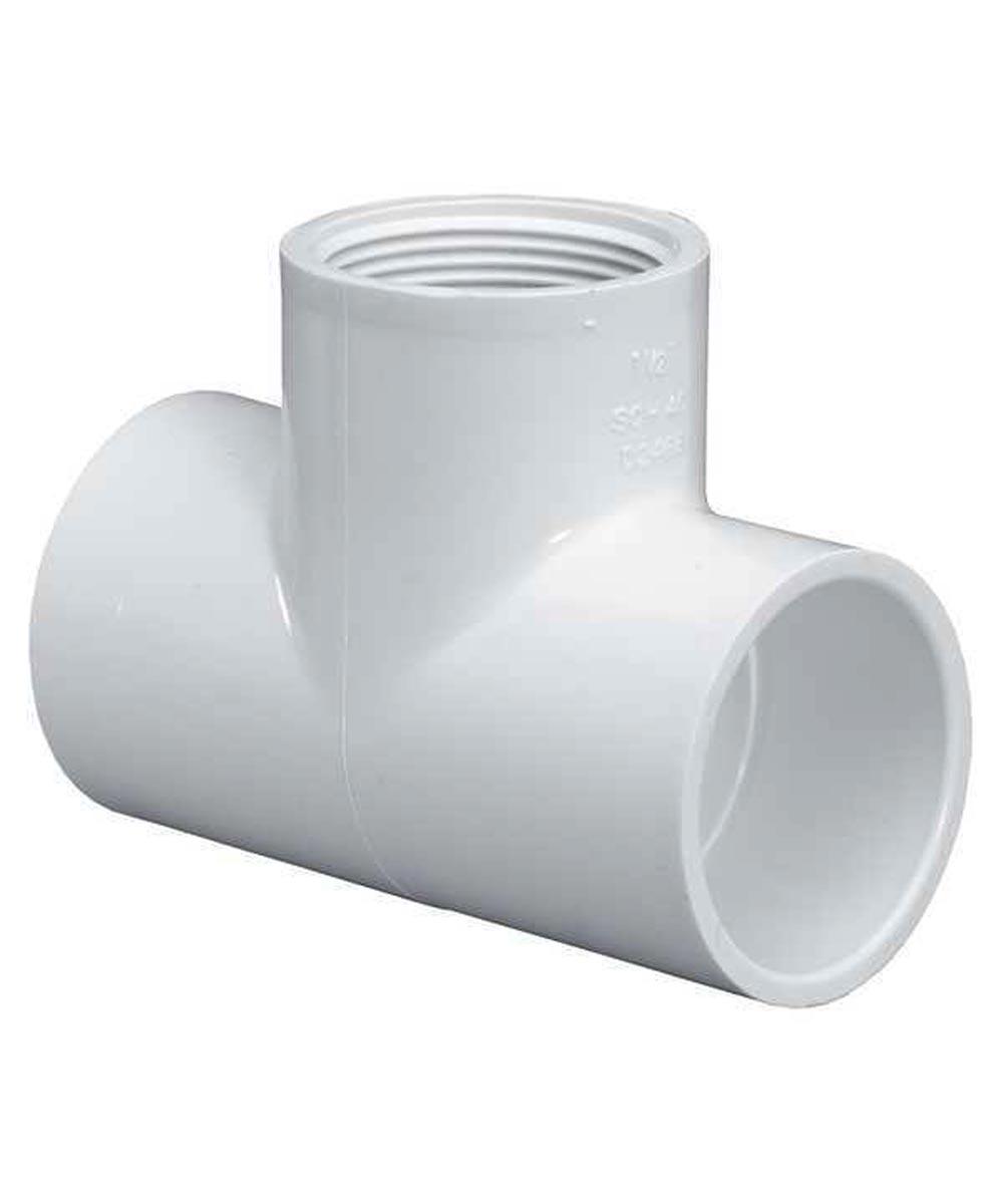 3/4 in. PVC Tee, S x S x F