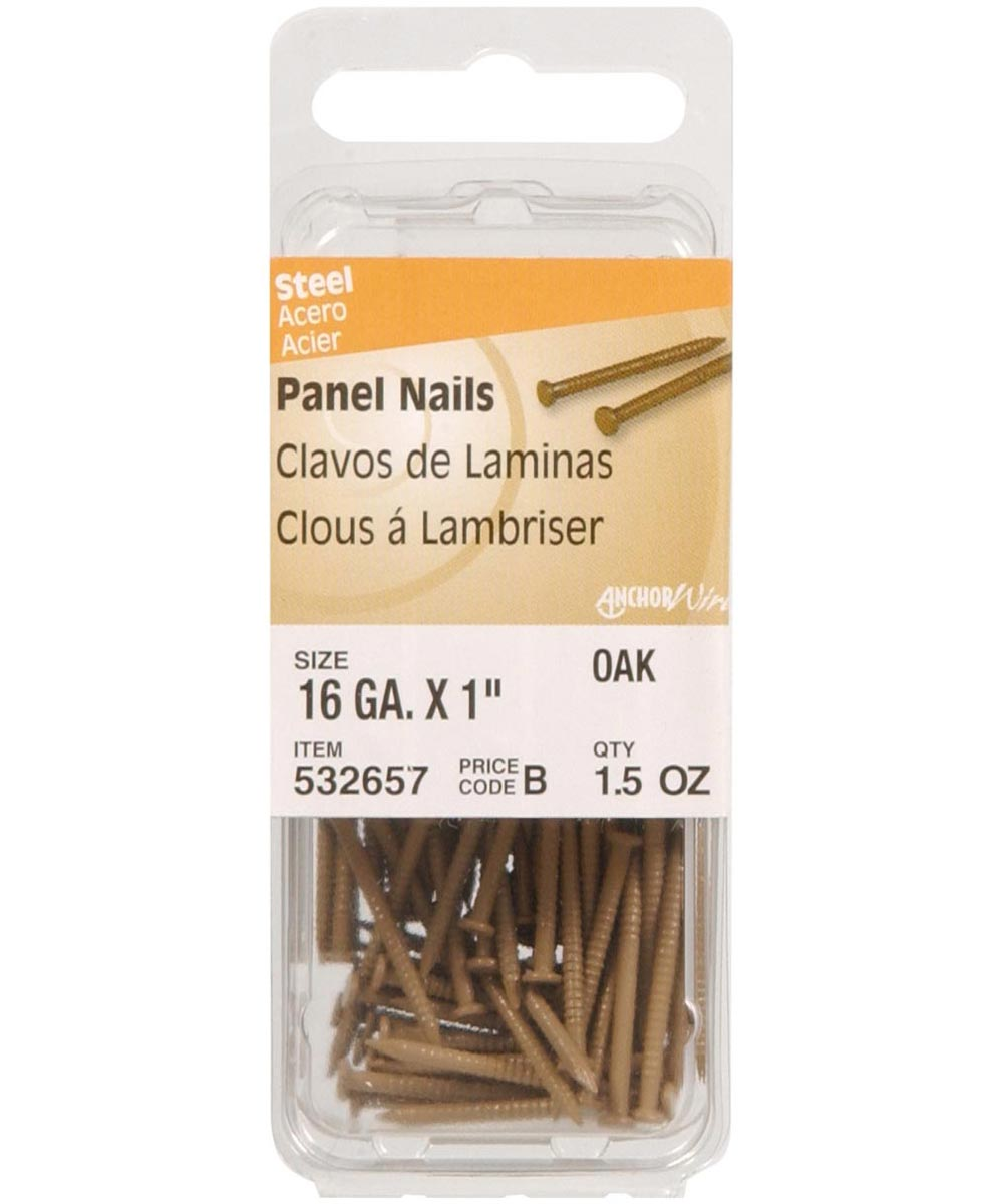 Oak Panel Nails 1 in., 6 Pieces
