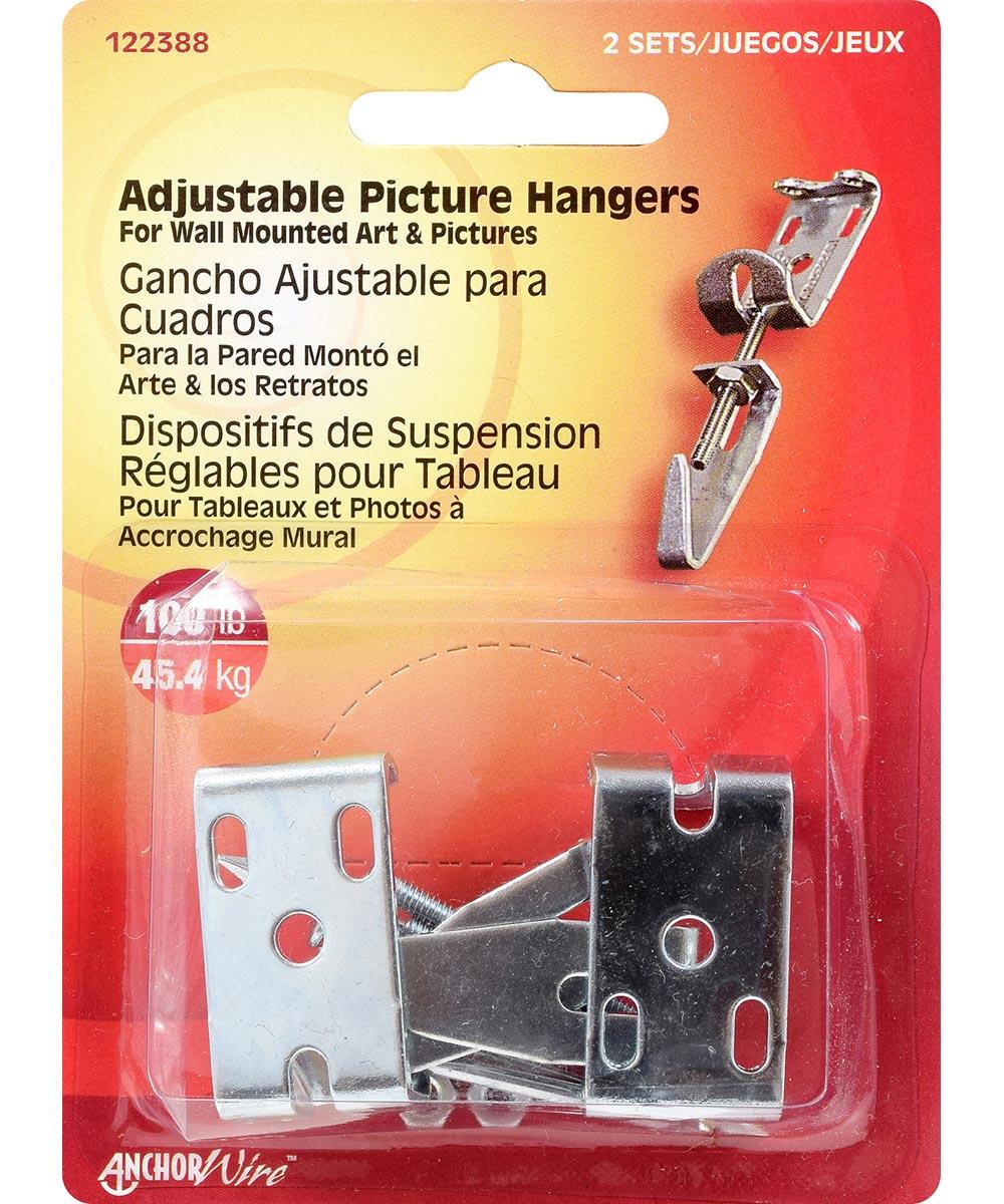 Adjustable Picture Hanger 100lb set of 2