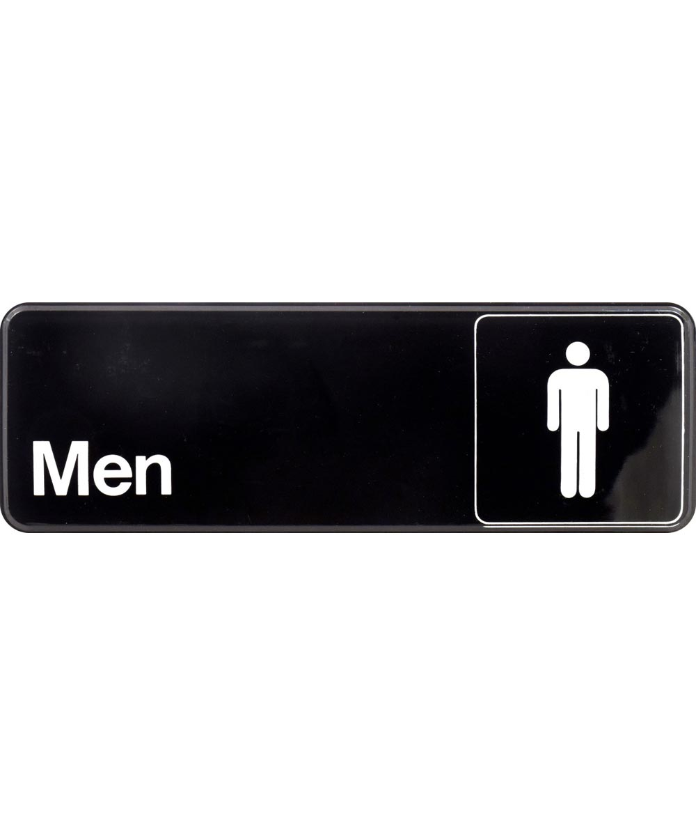 Men's Restroom Sign 3 in. X 9 in.