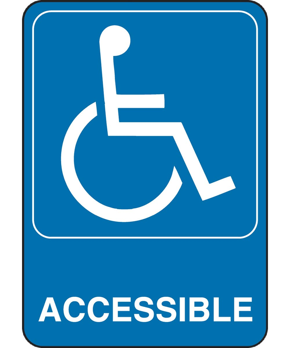Adhesive Handicapped Accessible Sign 5 in. X 7 in.