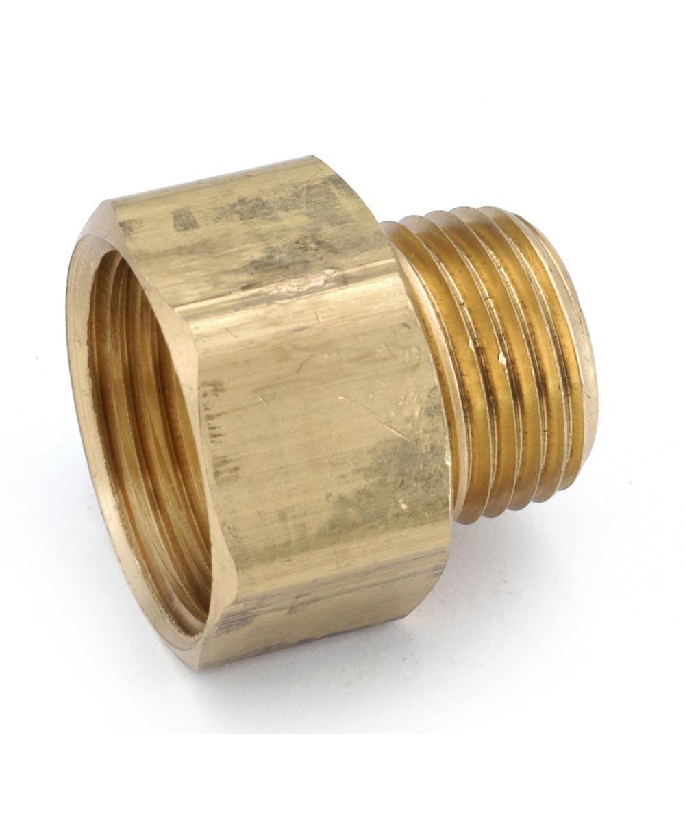 3/4 in. Female x 1/2 in. Male Brass Lead Free Garden Hose Connector
