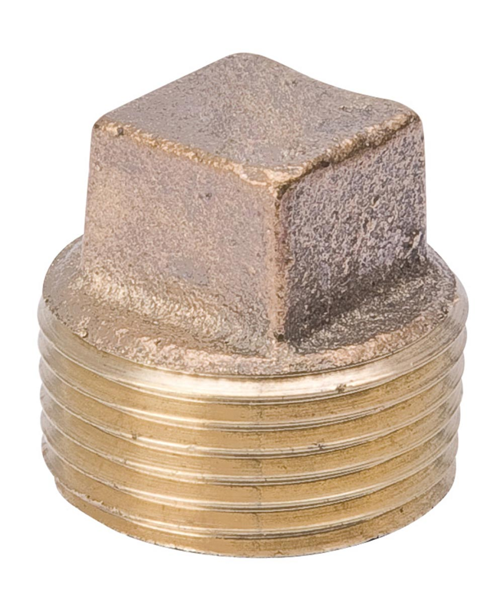 1/4 in. Red Brass Square Head Pipe Plug