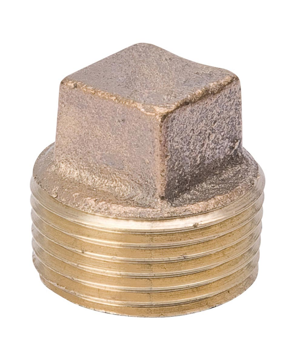 3/8 in. Red Brass Square Head Pipe Plug