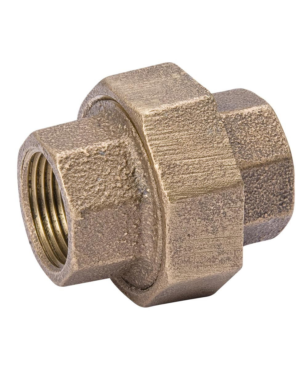 1/2 in. Red Brass Union