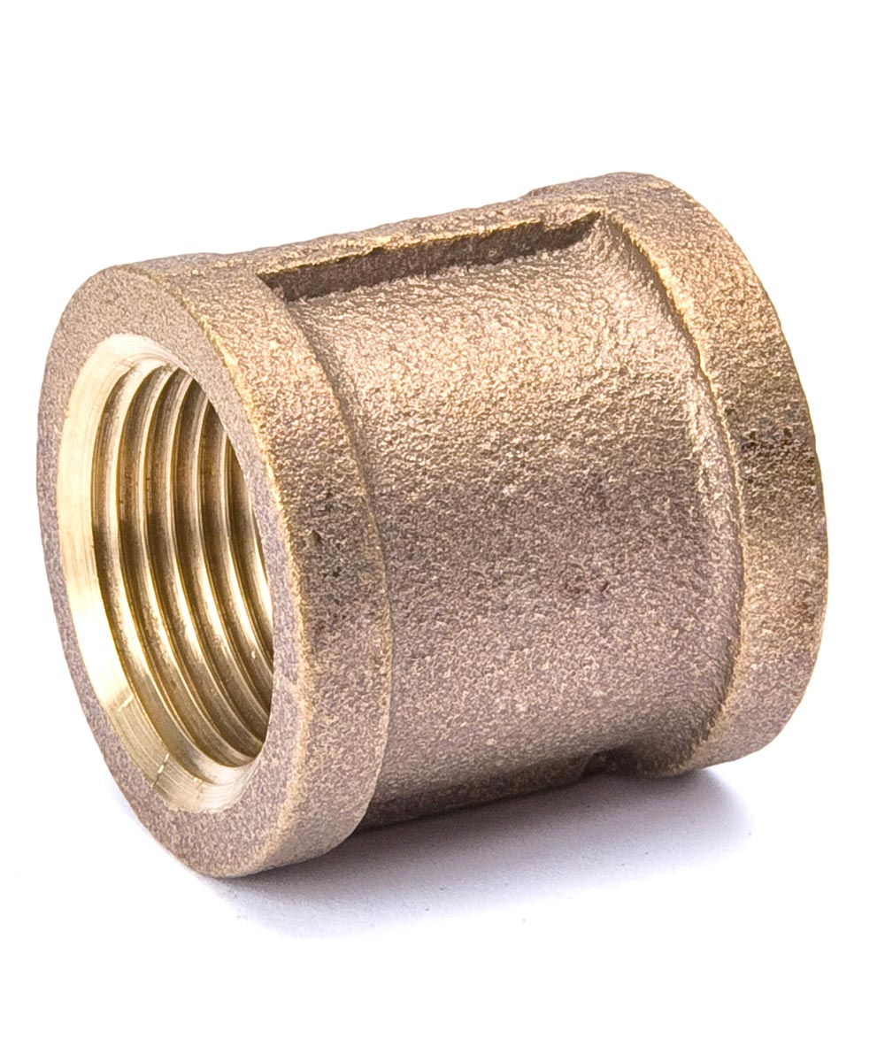 3/4 in. Red Brass Coupling Pipe