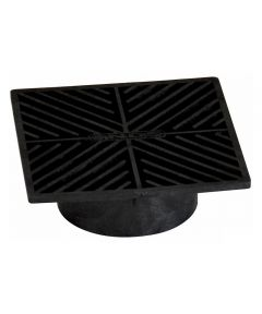 6 in. Square Grate, Black